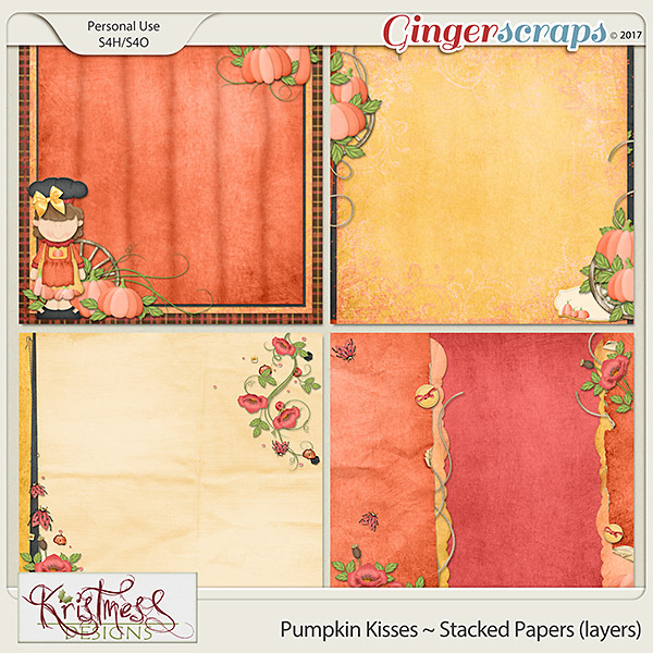 Pumpkin Kisses Stacked Papers (layers)