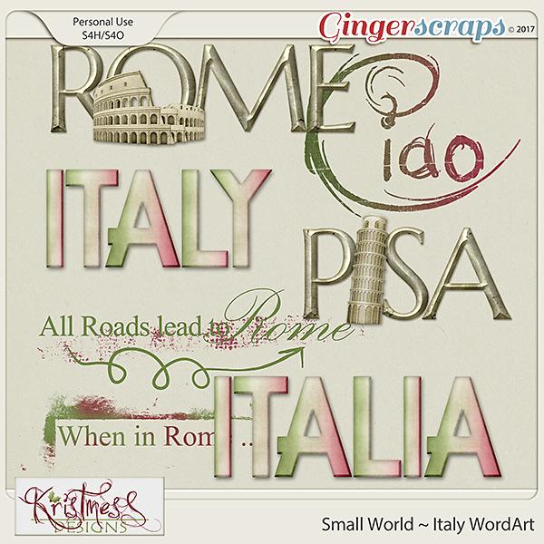Small World ~ Italy WordArt