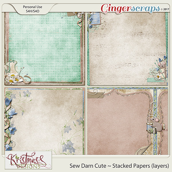 Sew Darn Cute Stacked Papers (layers)