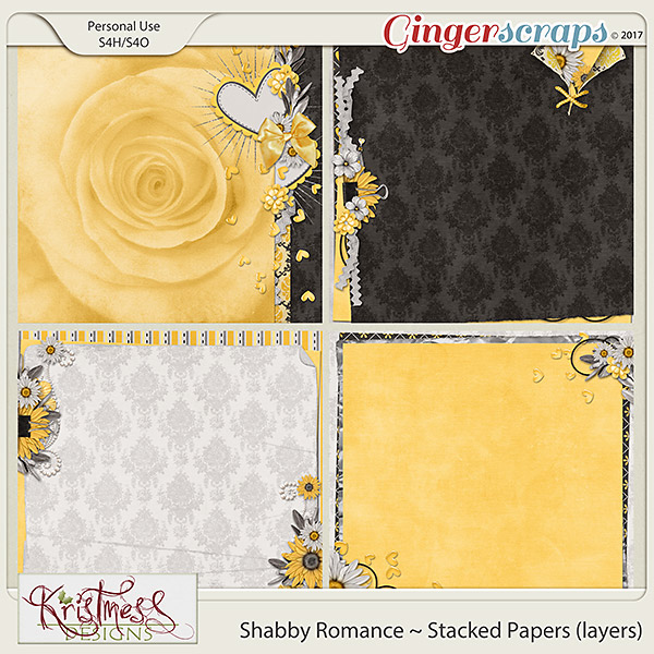 Shabby Romance Stacked Papers (layers)