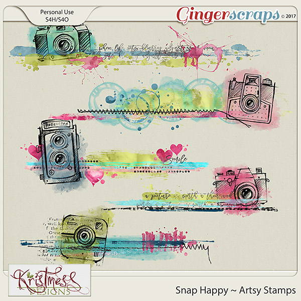 Snap Happy Artsy Stamps