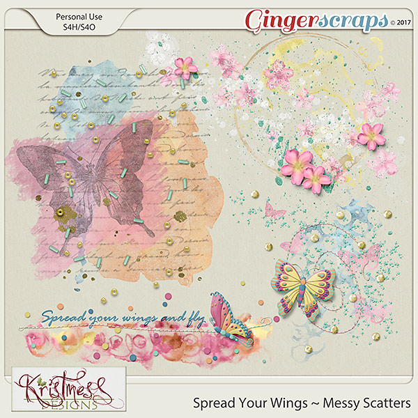Spread Your Wings Messy Scatters
