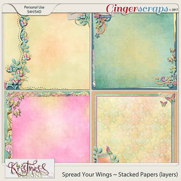 Spread Your Wings Stacked Papers (layers)