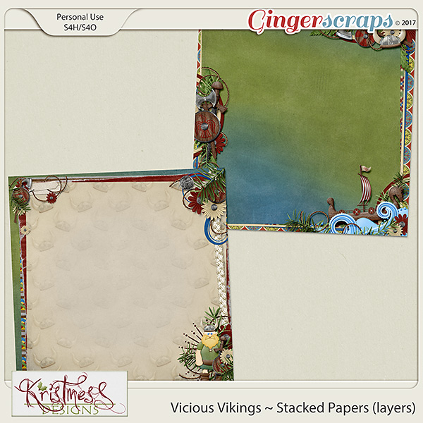 Vicious Vikings Stacked Papers (layers)