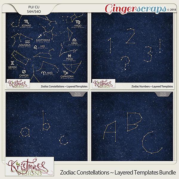CU Zodiac Constellations Layered Templates Bundle
