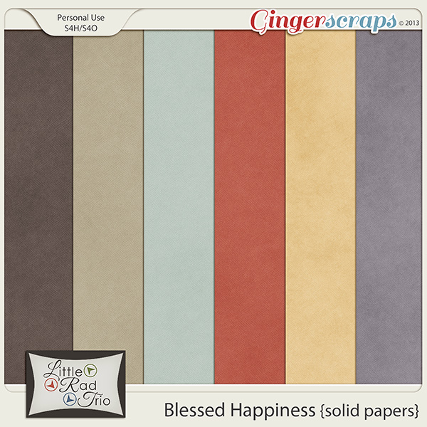 Blessed Happiness {solid papers}