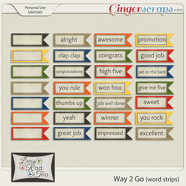 Way 2 Go {word strips}