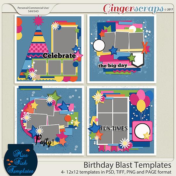 Birthday Blast Templates