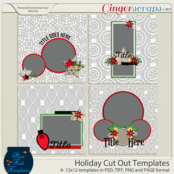 Holiday Cut Out Templates by Miss Fish