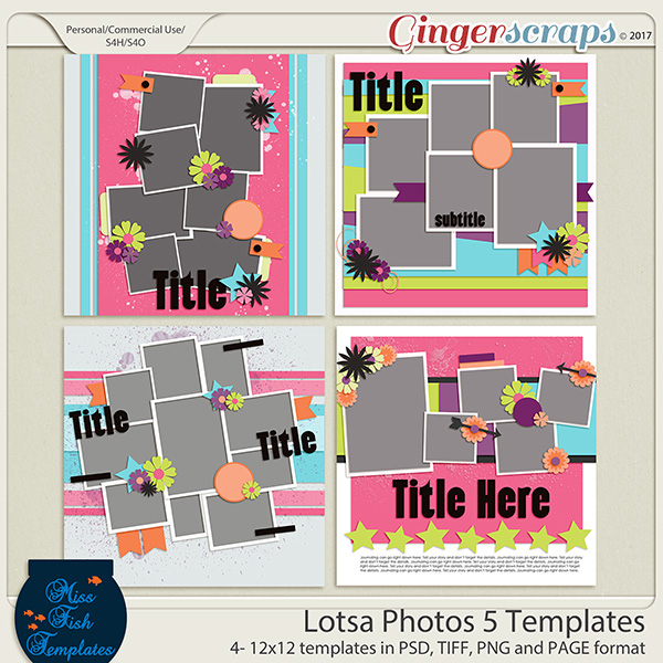 Lotsa Photos 5 Templates by Miss Fish Templates