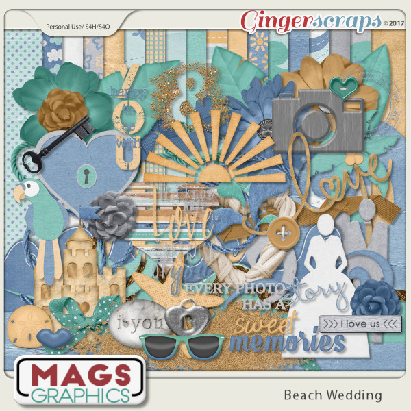 Beach Wedding KIT by MagsGraphics