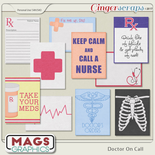 Doctor On Call JOURNAL CARDS by MagsGraphics