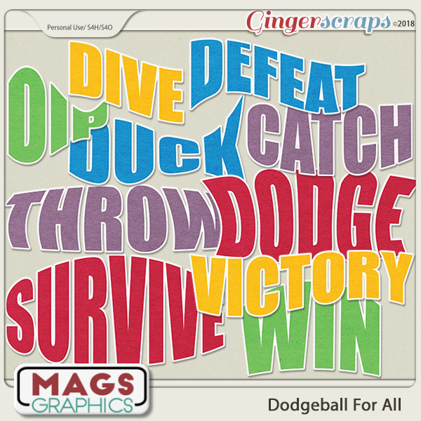 Dodgeball For All TITLES by MagsGraphics