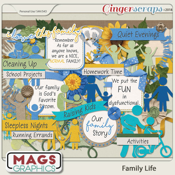 Family Life ELEMENTS by MagsGraphics