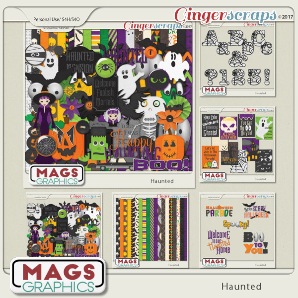 Haunted BUNDLE by MagsGraphics