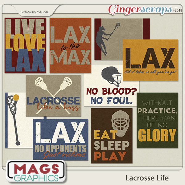 Lacrosse Life JOURNAL CARDS by MagsGraphics