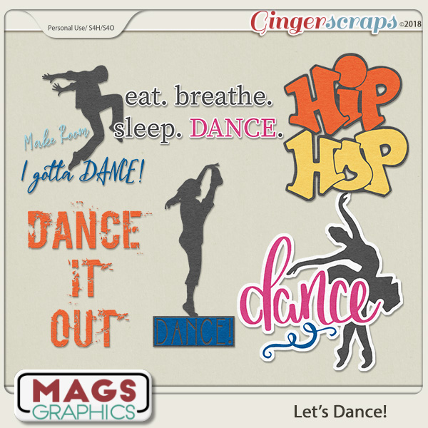 Let's Dance WORD ART by MagsGraphics