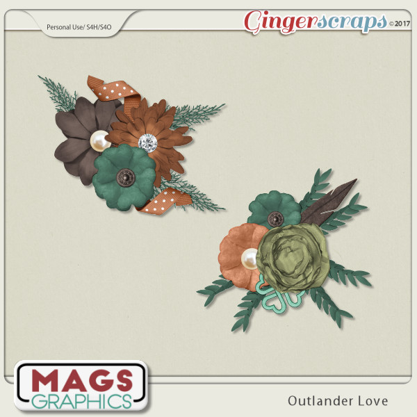 Outlander Love CLUSTERS by MagsGraphics
