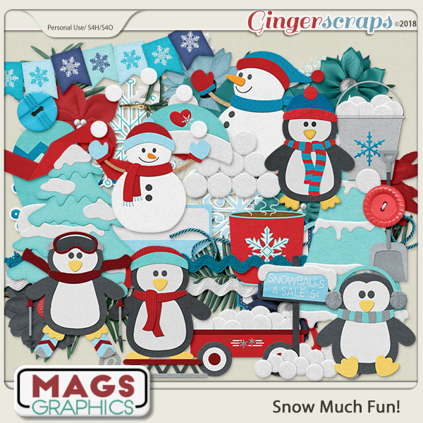 Snow Much Fun ELEMENTS by MagsGraphics