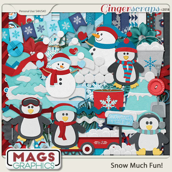 Snow Much Fun KIT by MagsGraphics