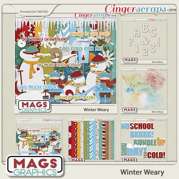 Winter Weary BUNDLE by MagsGraphics