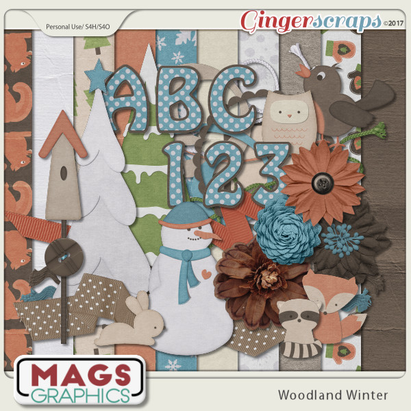 Woodland Winter KIT + ALPHA by MagsGraphics