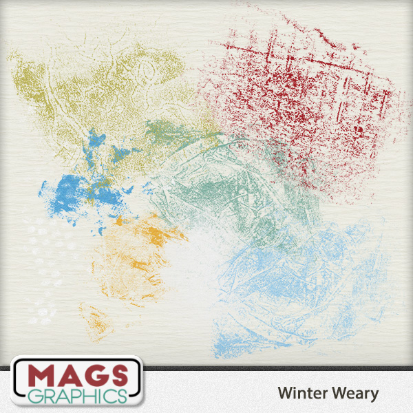 Winter Weary GRUNGE Elements by MagsGraphics