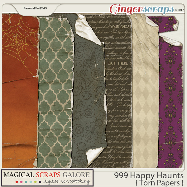 999 Happy Haunts (torn papers)