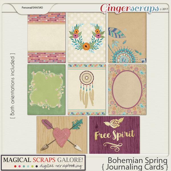Bohemian Spring (journaling cards)