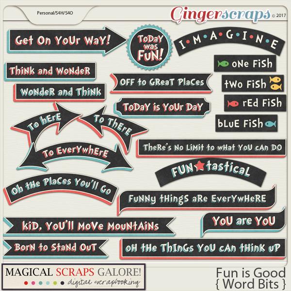 Fun is Good (word bits)