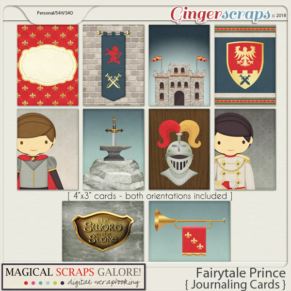 Fairytale Prince (journaling cards)