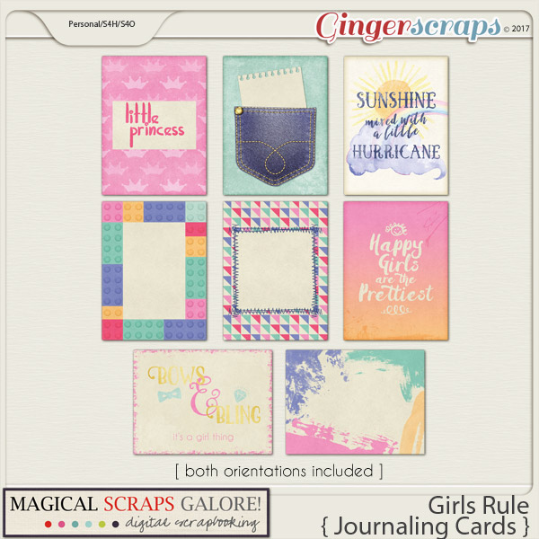 Girls Rule (journaling cards)