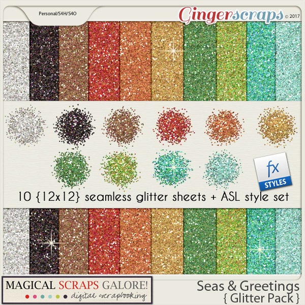 Seas & Greetings (glitter pack)