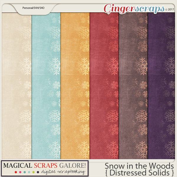 Snow in the Woods (distressed solids)
