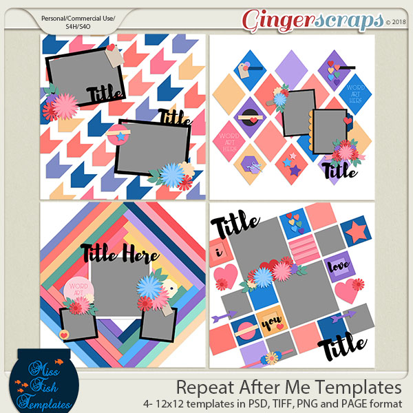 Repeat After Me Templates by Miss Fish