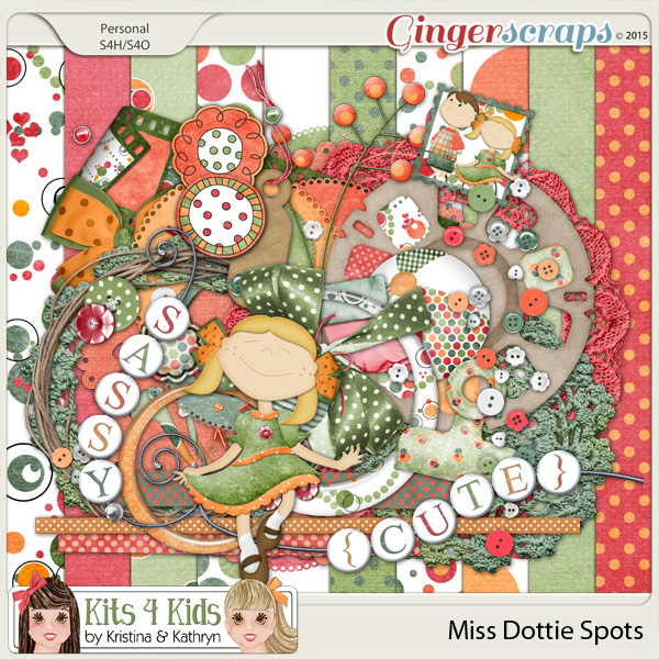 Dottie Spots Page Kit by K4K