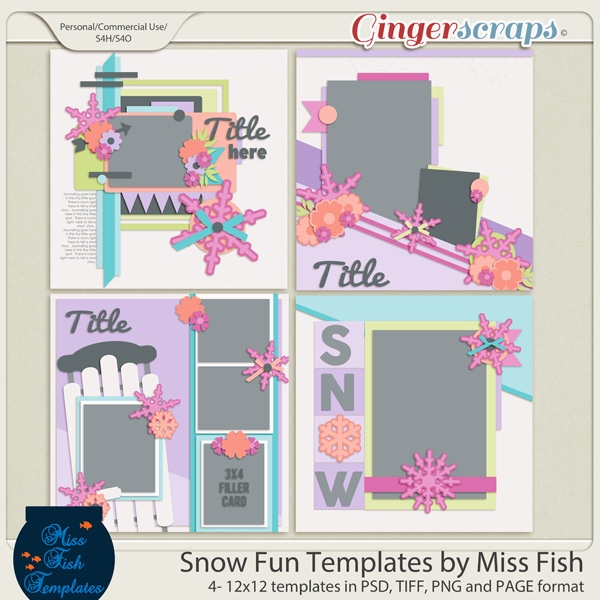 Snow Fun Templates