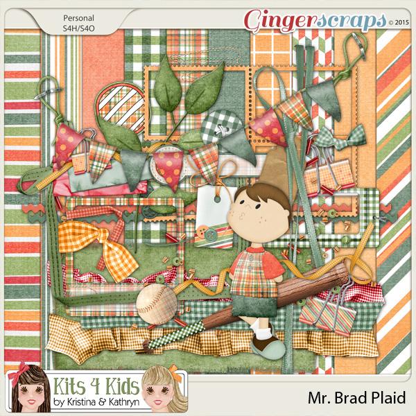 Brad Plaid Page Kit by K4K