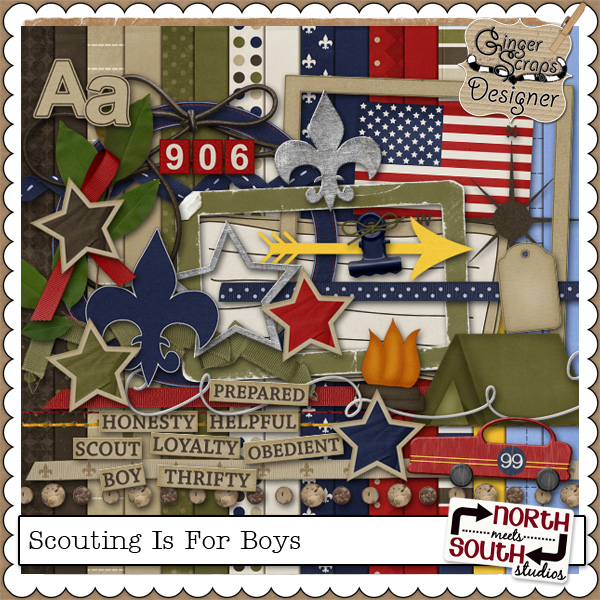 Scouting Is For Boys Kit by North Meets South Studios