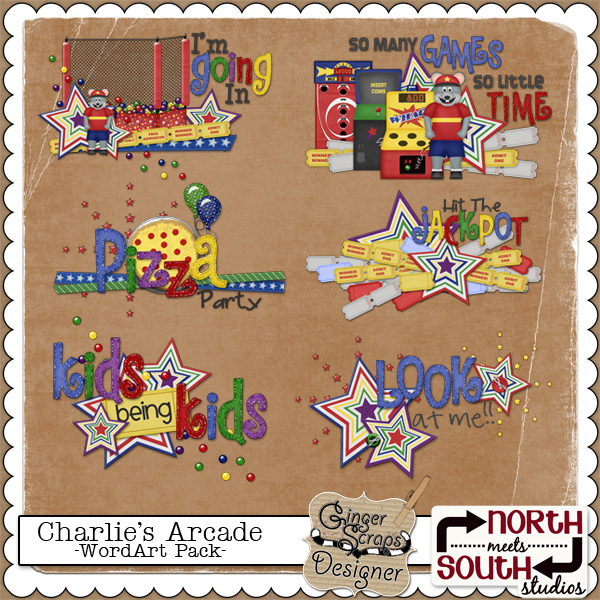 Charlie&#039;s Arcade {WordArt} by North Meets South Studios