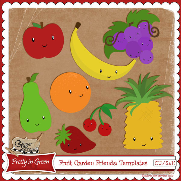 Fruit Garden Friends: CU Templates