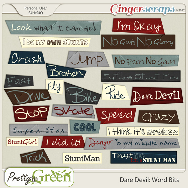 Dare Devil: Wordart Tags