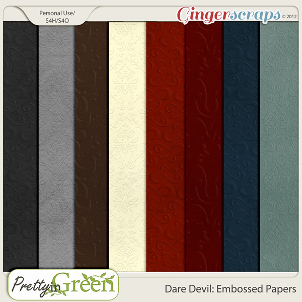 Dare Devil: Embossed Papers