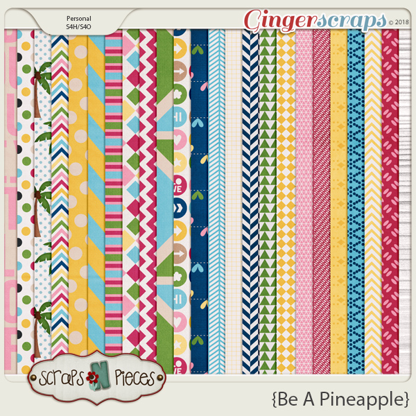 Be A Pineapple Patterned Papers by Scraps N Pieces
