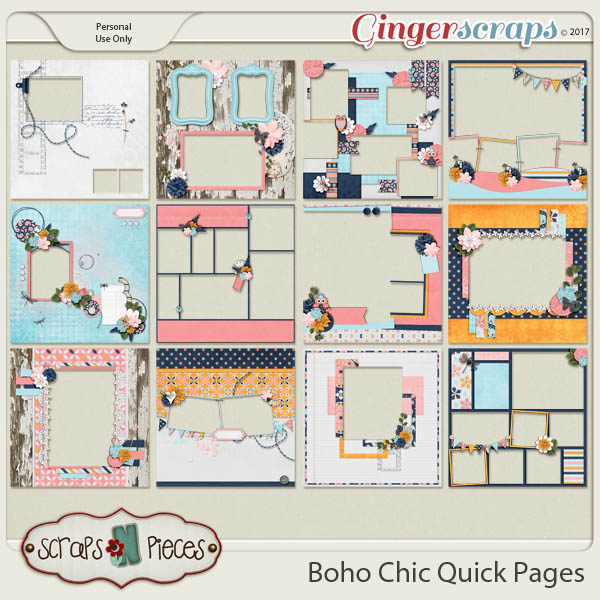 Boho Chic Quick Pages by Scraps N Pieces