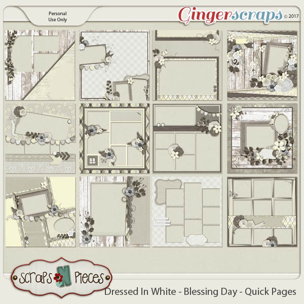 Dressed In White - Blessing Day Quick Pages