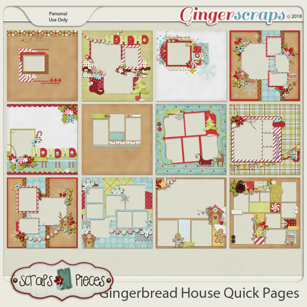 Gingerbread House Quick Pages by Scraps N Pieces