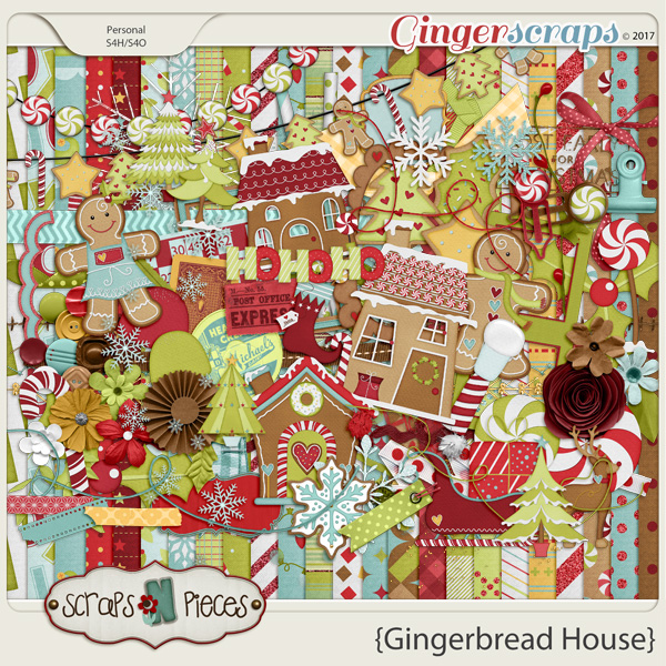 Gingerbread House kit by Scraps N Pieces