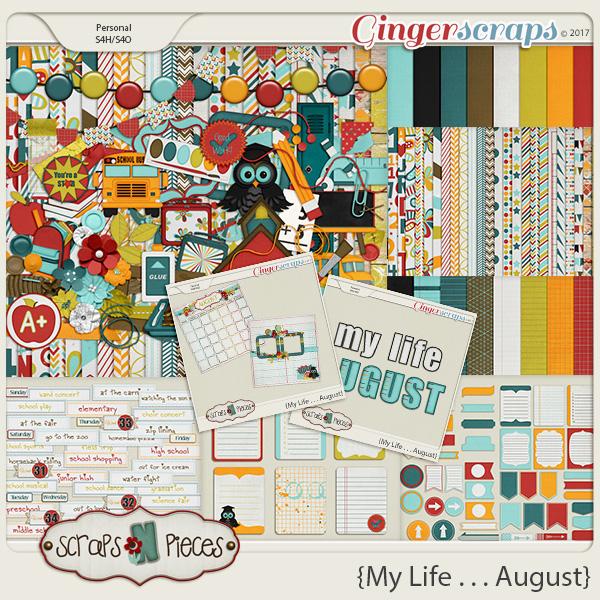 My Life - August Bundle by Scraps N Pieces
