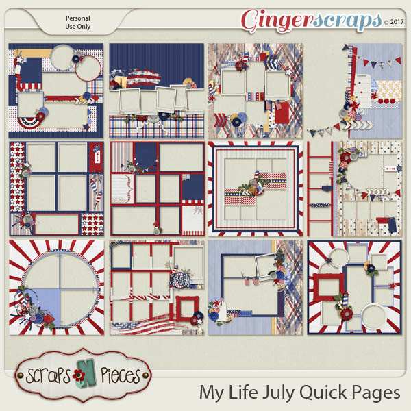 My Life - July Quick Pages